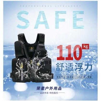 Uni Reflective Fishing Life Jacket Vest Multi-Function Multi Pocket Outdoors High Buoyancy Fishing Vest
