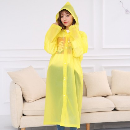Travel Portable PEVA frosted non disposable poncho raincoat adult