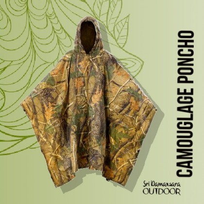 Heavy Duty Camouflage Poncho
